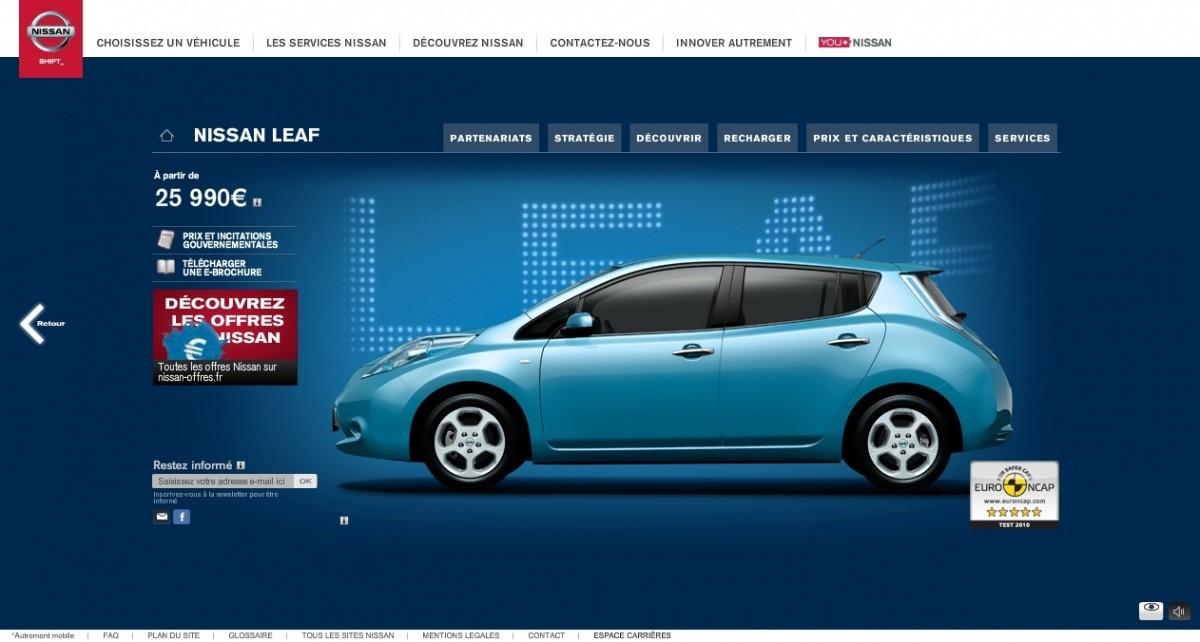 Nissan Leaf 2013 - baisse du prix
