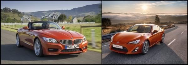 BMW Z4 et Toyota GT 86