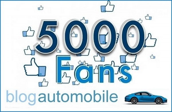 Blogautomobile.fr et 5000 Like sur Facebook
