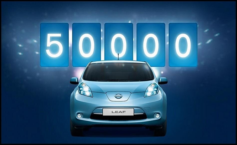 Nissan 50000 Leaf mise à la route