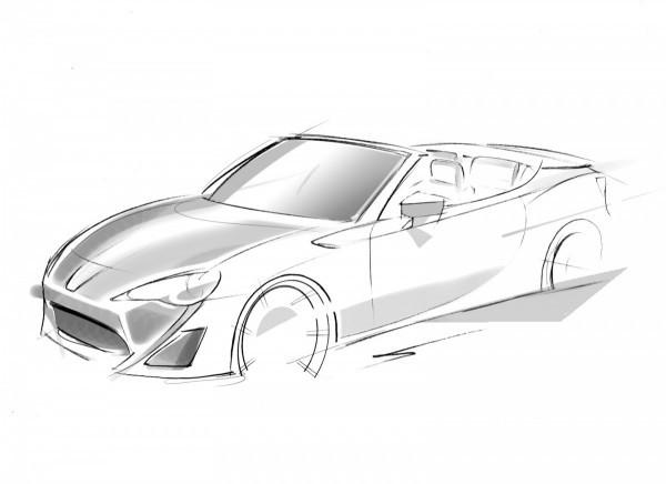 Toyota FT86 Open Concept : Un sketch en attendant Genève
