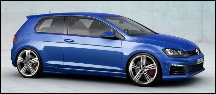 VW Golf R 2014 - illustration -