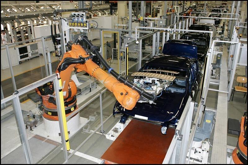 chaine de production de la VW Passat