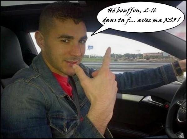 Benzema à 216 à l'heure