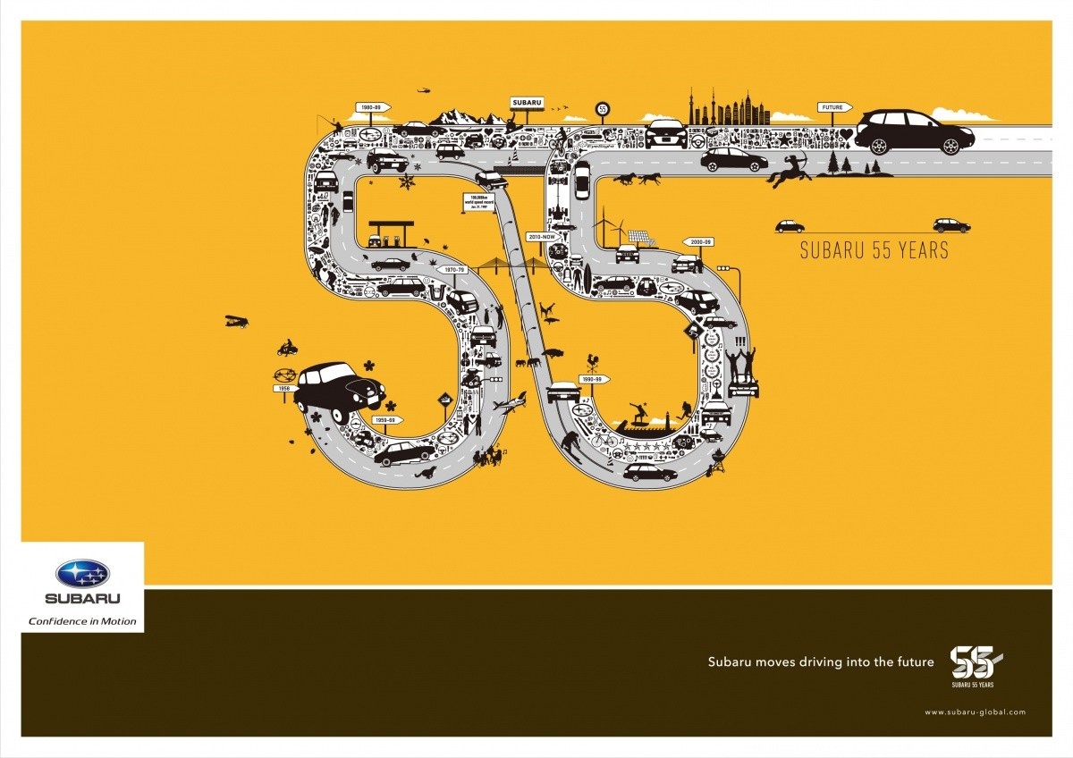 Subaru 55 anniversaire