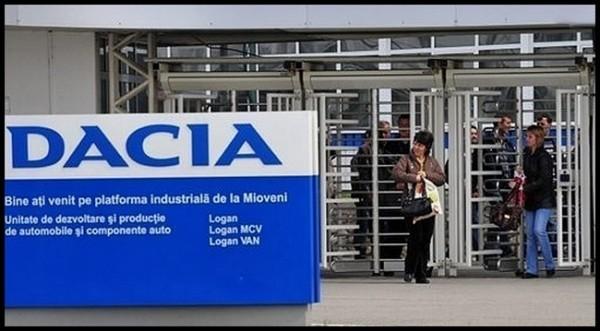 Usine Dacia de Mioveni -entrée salariés-