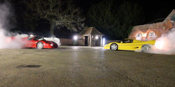 Ferrari F50 brulage de pneus