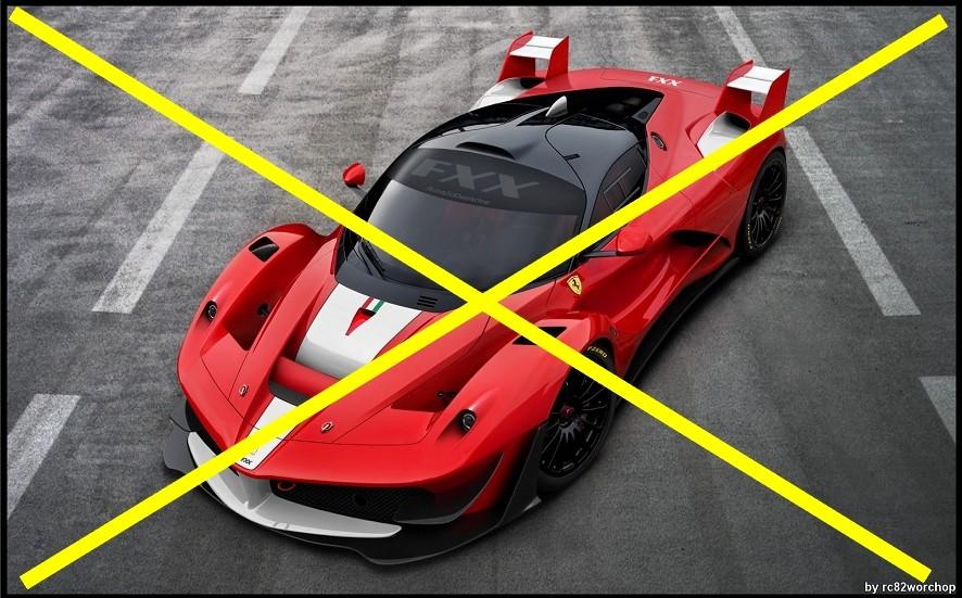 Ferrari LaFerrari FXX , c'est non