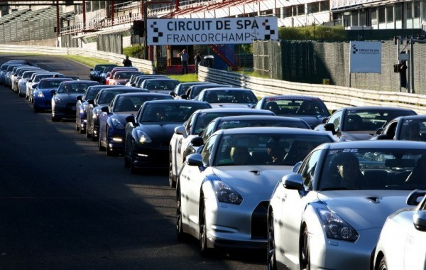 Nissan GTR à Spa
