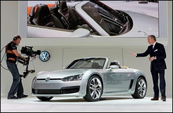 Walter de Silva et VW Roadster Bluesport Concept en 2009