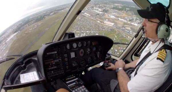 Survol du circuit du Mans en hélicoptère