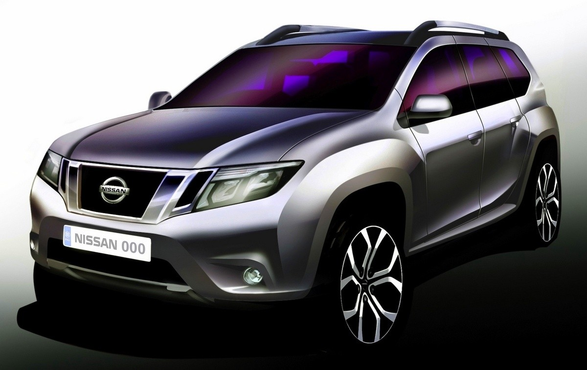 Nissan-Terrano for India - sketch officiel