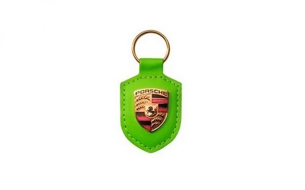 Porte clef Porsche green