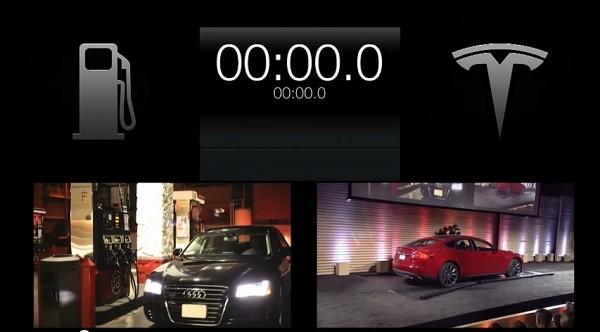 Tesla Motors -système échange de batterie -