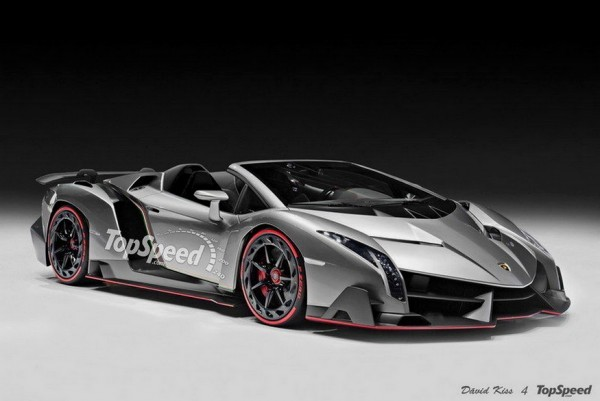 Lamborghini Veneno Roadster par David Kiss pour Top Speed