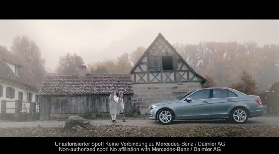 Publicité Mercedes Classe C non autorisée