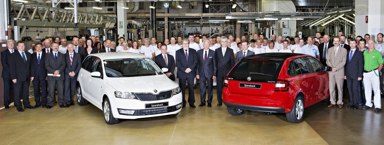 Skoda - début de production de la Rapid Spaceback