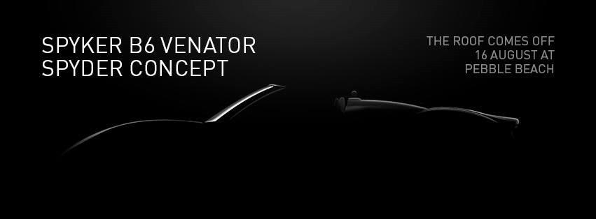 Spyker B6 Spyder Venator teaser