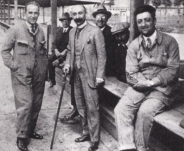 enzo ferrari et Nicola Romeo en 1923