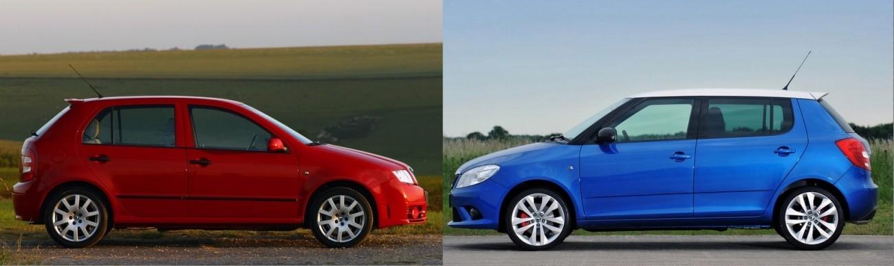 Skoda Fabia RS Mk1 et Mk2