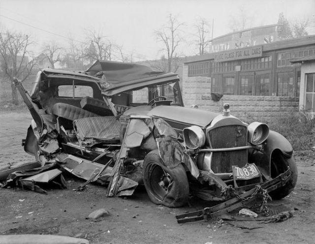 accident de la route années 30 aux USA