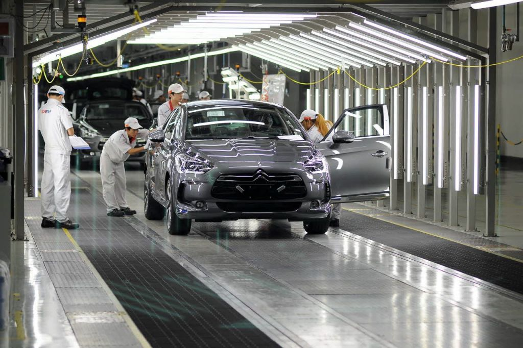 citroen ds5 début de production en Chine