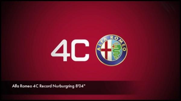 Alfa Romeo 4C record sur le Ring