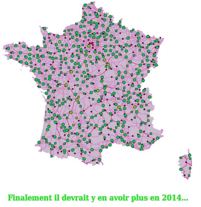 Caret des radars France fin 2012