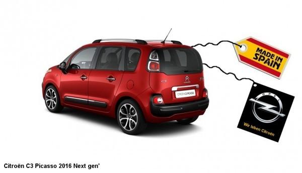 Citroën C3 Picasso next gen made in spain