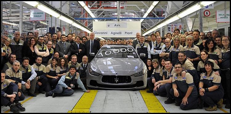 10000 Maserati produites à Grugliasco