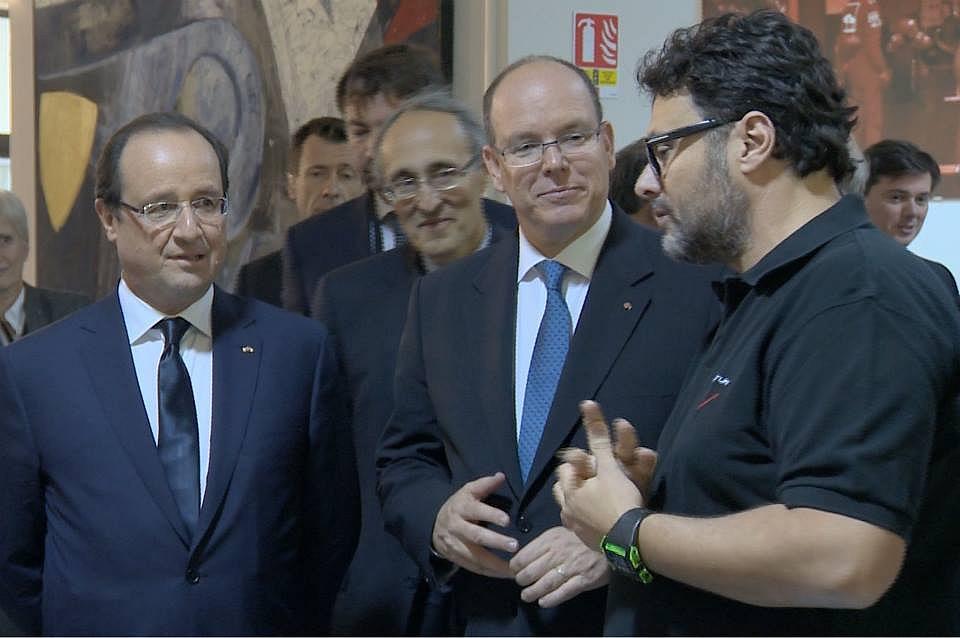 le président Hollande chez Venturi