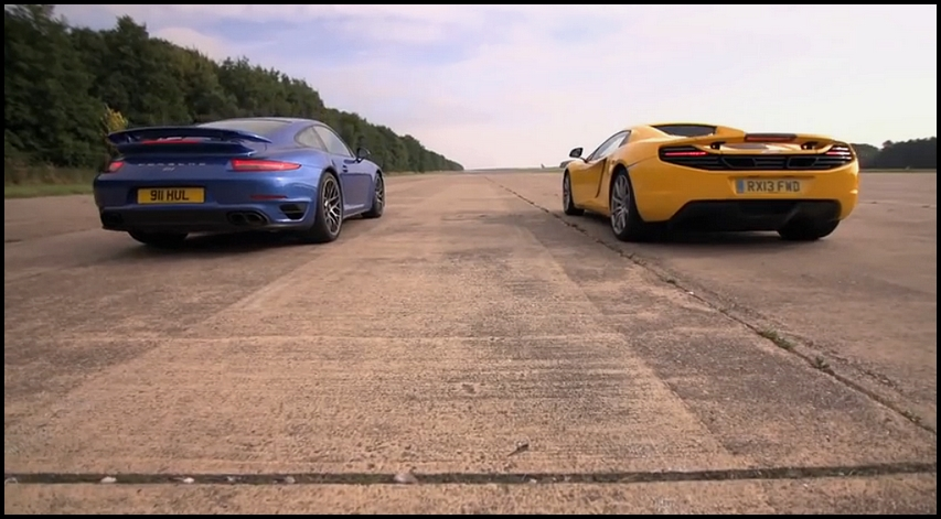 McLaren MP4-12C vs Porsche 911 Turbo S par C