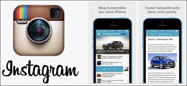 Blogautomobile arrive sur Instagram et Apple