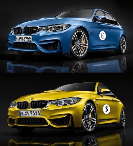 Les prix des BMW M3 et M4