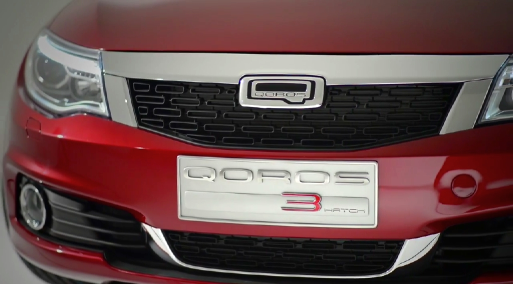 World Premiere Qoros 3 Hatch - front