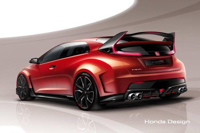 Honda Civic Type R 2015 -sketch officiel-