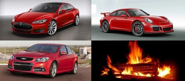 Tesla Motors, Chevrolet et Porsche touchés par le feu