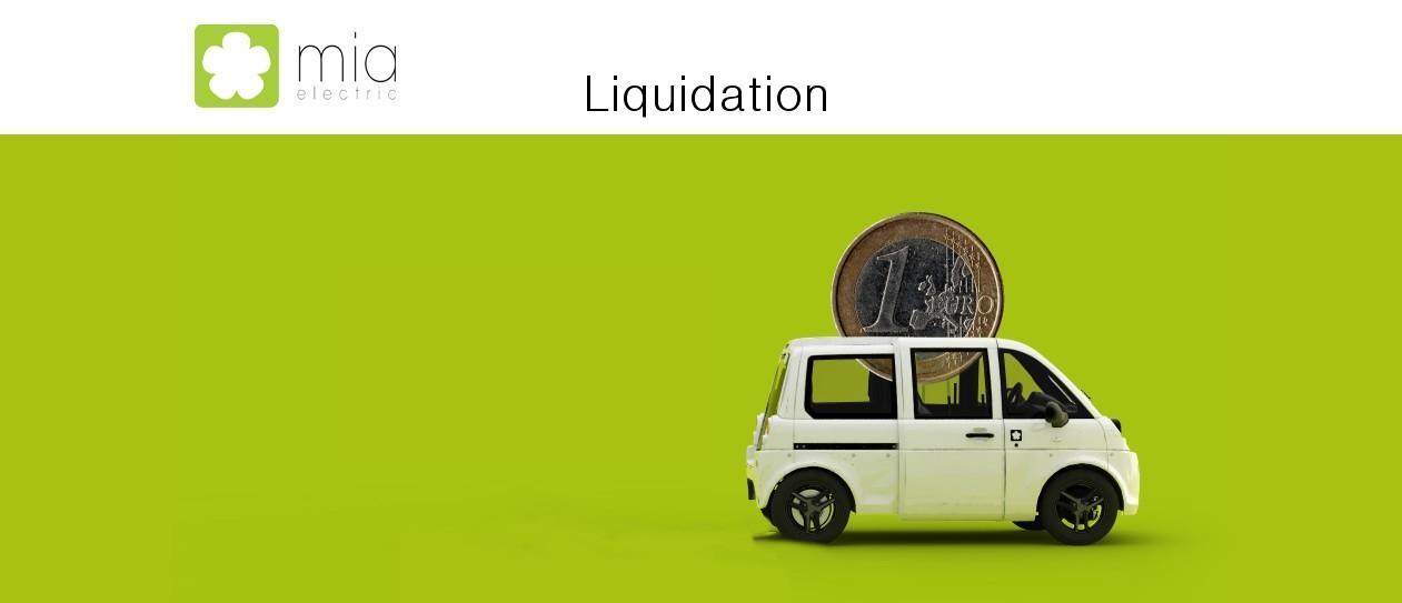 Mia electric en liquidation