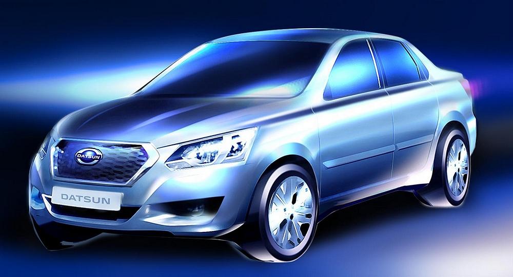 Teaser Datsun tricorps Pour la Russie