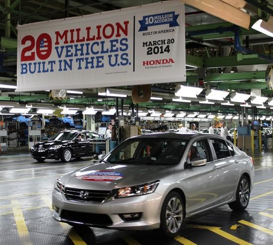 Honda Celebrates 20 Millionth Automobile Built in the U.S.