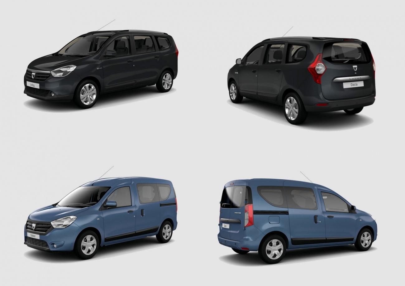 Dacia fait évoluer les Lodgy et Dokker