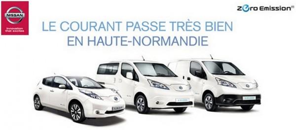 Nissan ZE en Haute Normandie