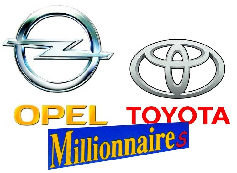 Toyota et Opel fêtent les millions