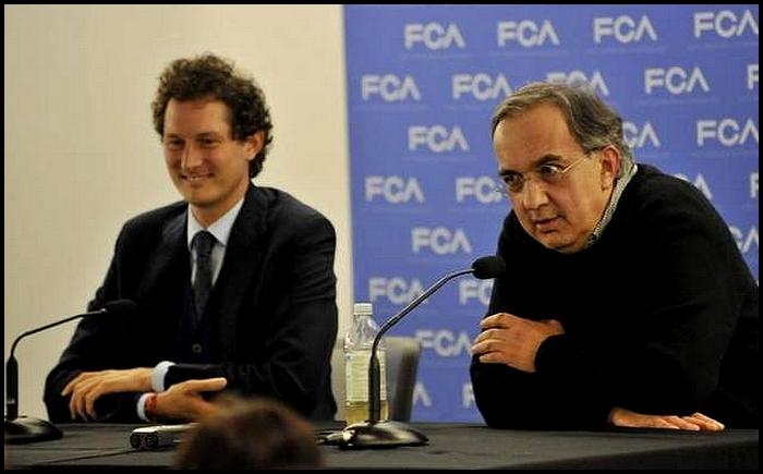 Sergio Marchionne et John Elkann