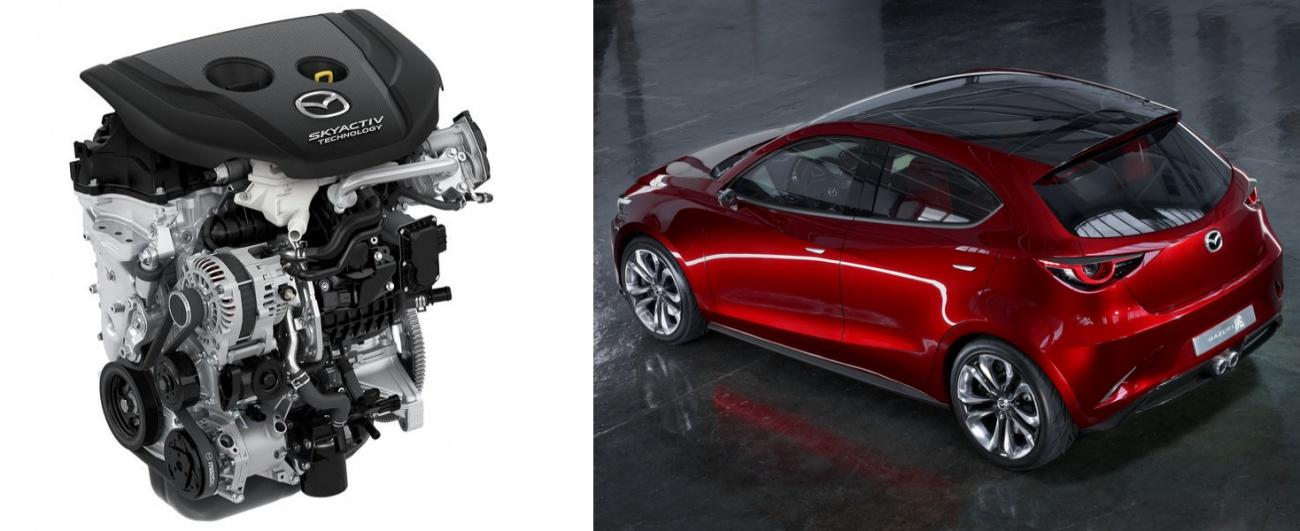 Future Mazda 2 et nouveau moteur SkyActiv-D 1