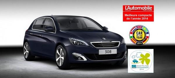 Peugeot 308  - meilleure compacte de l'année 2014