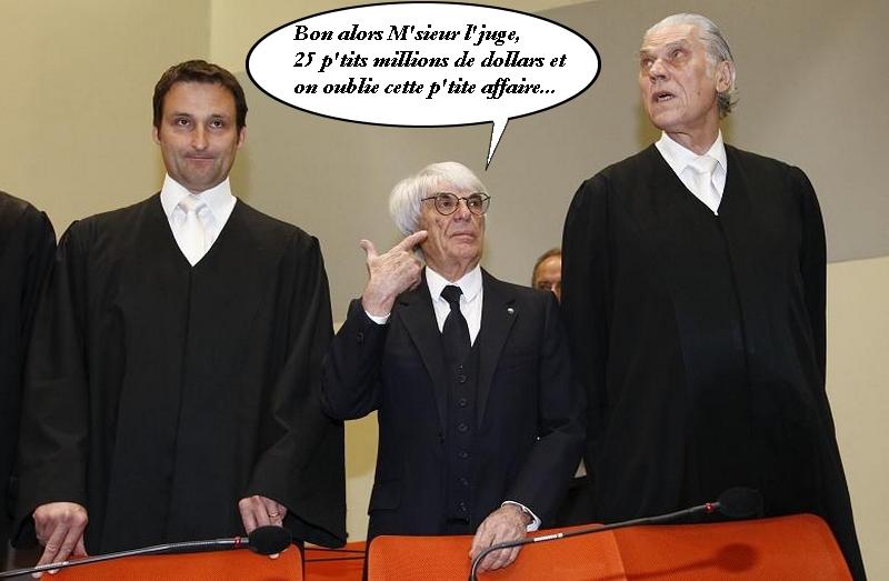 Bernie Ecclestone et la justice allemande par AFP, BB pour RPonline