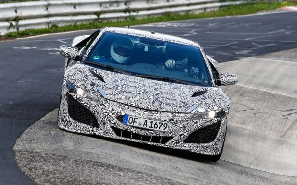 Honda NSX 2015 on fire.0