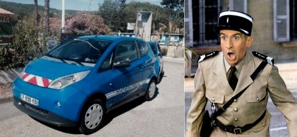 les gendarmes de St Tropez en Bolloré Bluecar .3