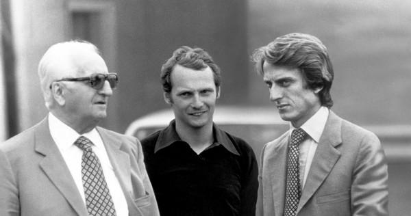 Luca-di-Montezemolo avec Ferrari et Lauda